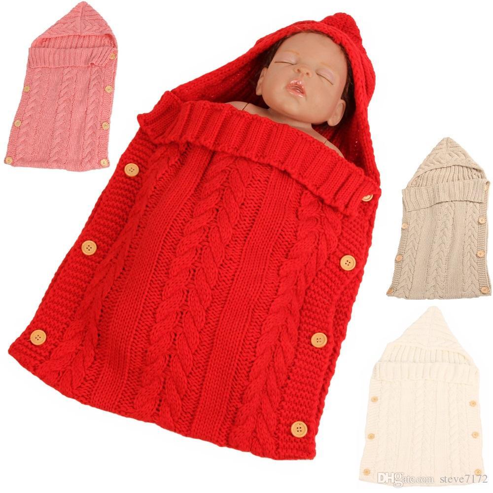 Wool Baby Girl Receiving Blankets Newborn Photography Prop Crochet Infant Swaddling Towel Babies Wrap Sleeping Bag Knitting Robe