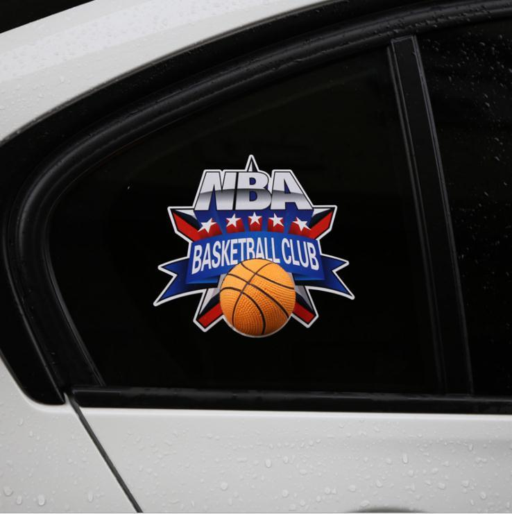 Hot 3D Simulation Ball Car Sticker The World Cup Football Basketball Tennis Baseball Game Glass Stickers Auto Supplies Exterior Acc