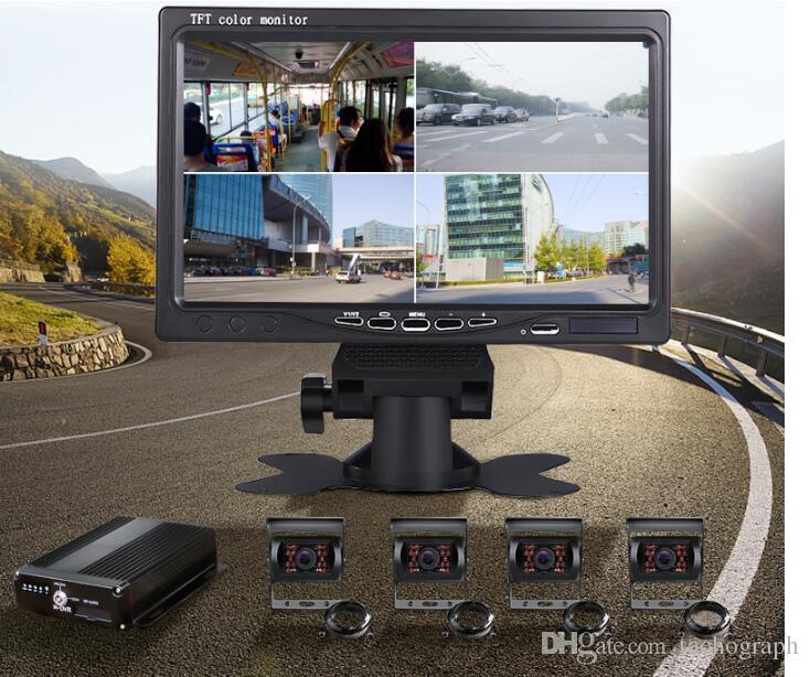 Système de surveillance du véhicule DCA 4 route enregistreur vidéo voiture dvr