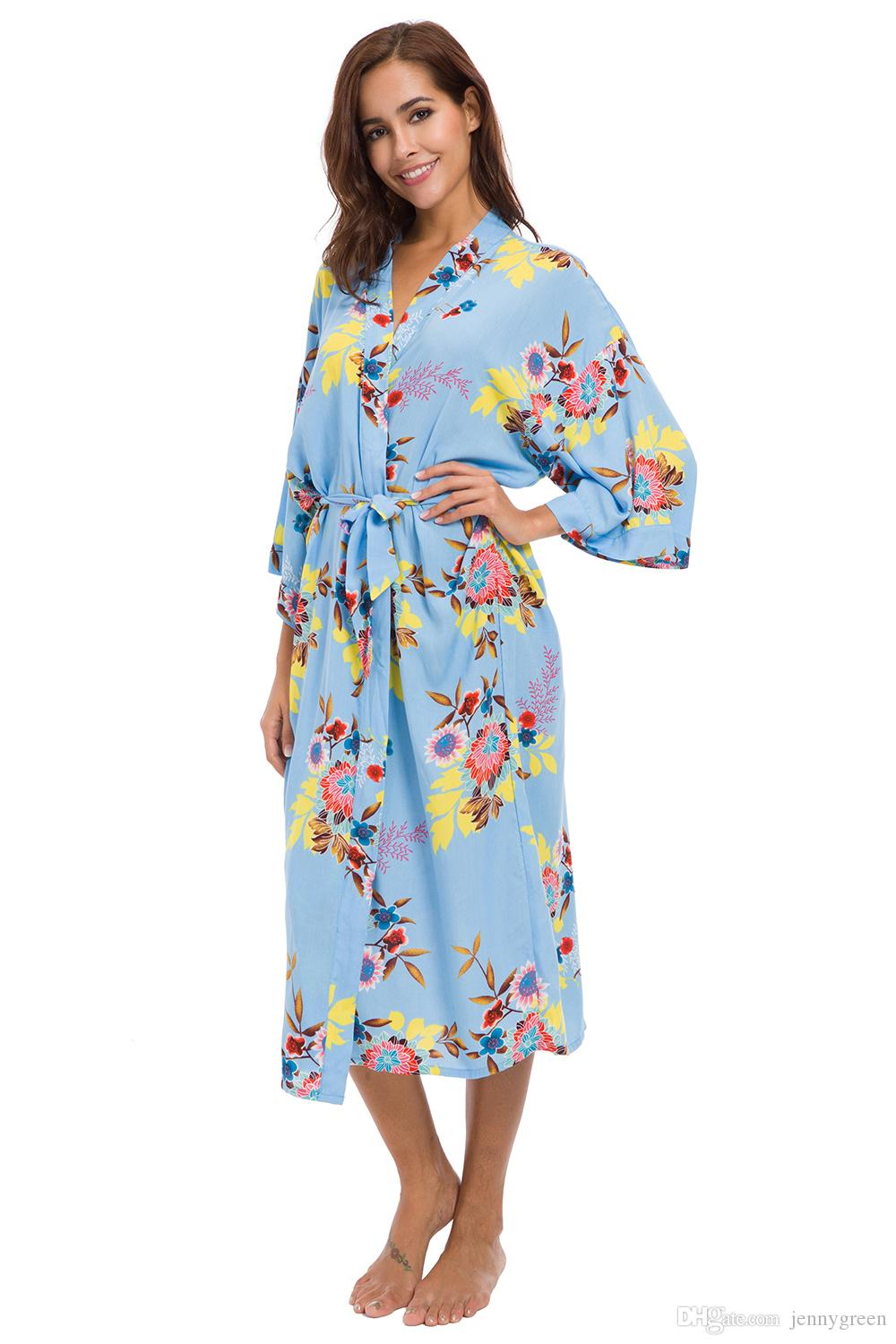 2021 Long Bath Robe Bridal Party Robes Bridal Shower Gift The Best Bridesmaid Gifts Cotton Kimono Robe Monogrammed Bridesmaids Robes Cheap From Jennygreen 20 3 Dhgate Com