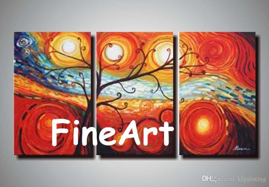 good quality large painting canvas hand painted wall panels painting abstract tree discount best modern art hanging wall decor