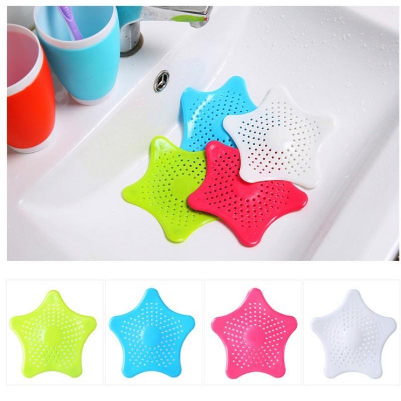 Silikon beş köşeli yıldız lavabo filtresi mutfak Araçları banyo saç kanalizasyon filtre enayi yer sifonları duş süzgeçler süzgeç