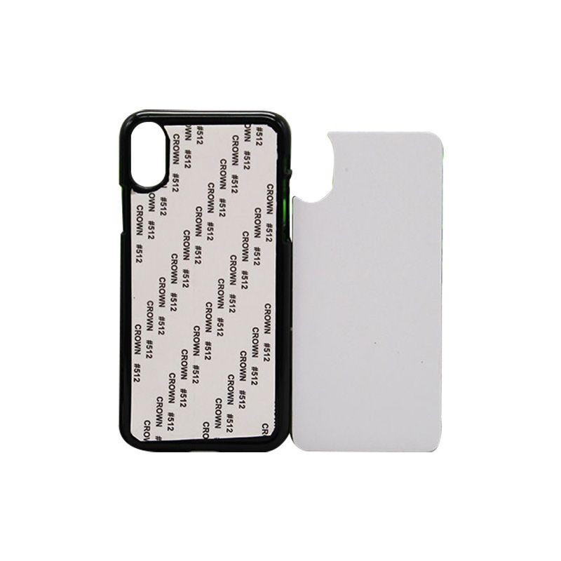 Großhandel DIY Sublimationshitzepresse PC Abdeckungen für iPhone X XS XS MAX XR Leere Kunststoffdruck Fall mit Aluminiumplatten
