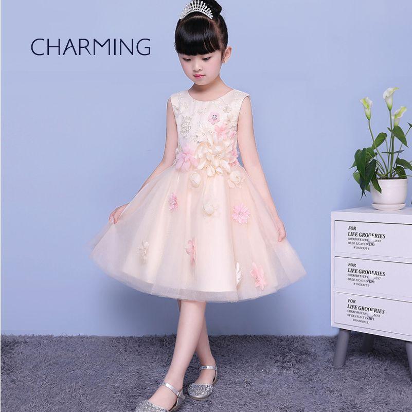 Compre Vestidos Bonitos Para Niñas Vestidos De Fiesta De Niñas Vestidos De Ceremonia De Graduación De Temporada De Apertura Vestidos De Piano Vestido