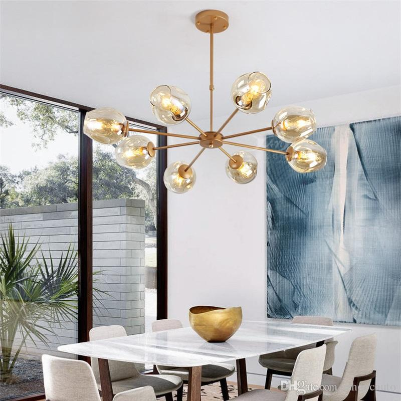 Nordic Style Pendant Lamp Living Room Home Magic Beans Molecular Ceiling  Lamps Postmodern Hotel Bedroom Chandelier Dining Lights Glass Pendant Light  ...