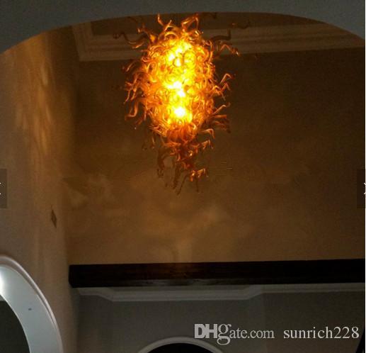 Moda Iluminación Moderna Chihuly Estilo Arañas Venta Caliente Diseño Único Colgante Simple Accesorio de Luz de Vidrio Soplado
