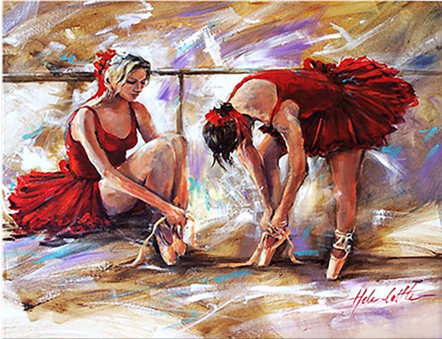 talão bordado diamante menina de balé, dançarinos, venda de pintura de diamante cheio de diamante mosaico imagem de strass ponto-cruz