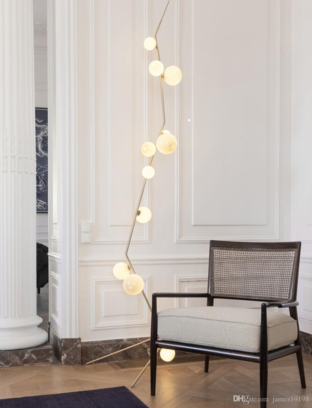 Acquista Lampada Da Terra Moderna In Vetroceramica A Boccioli Lampada Da  Soggiorno Moderna Lindsey Adelman New A $360.79 Dal James19198 | DHgate.Com