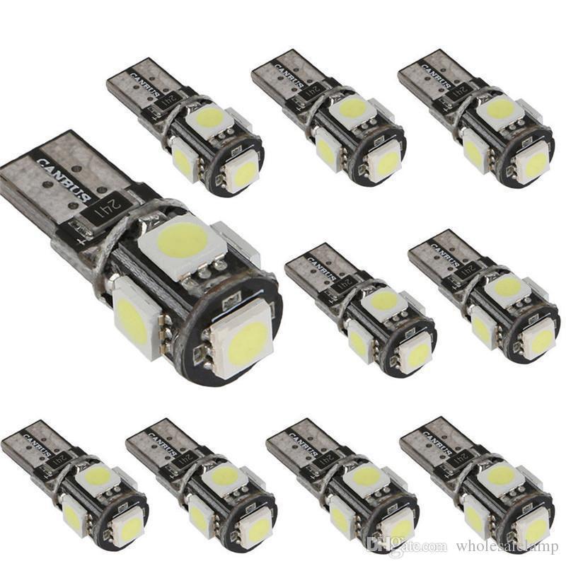 T10 5SMD 5050 canbus Car Side Wedge Light Lamp Bulb Error Free 12V Decoder Sign Trun light