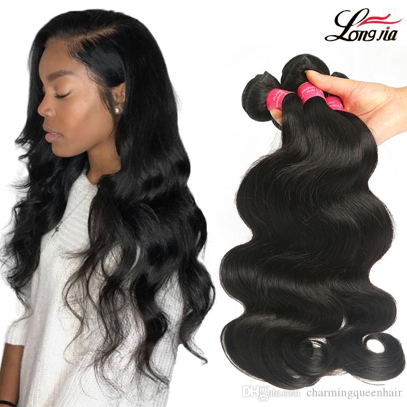 8A Brazilian Body Wave Bundles Deals Unprocessed Brazilian Straight Human Hair Extension deep wave hair water wave virgin hair bundles