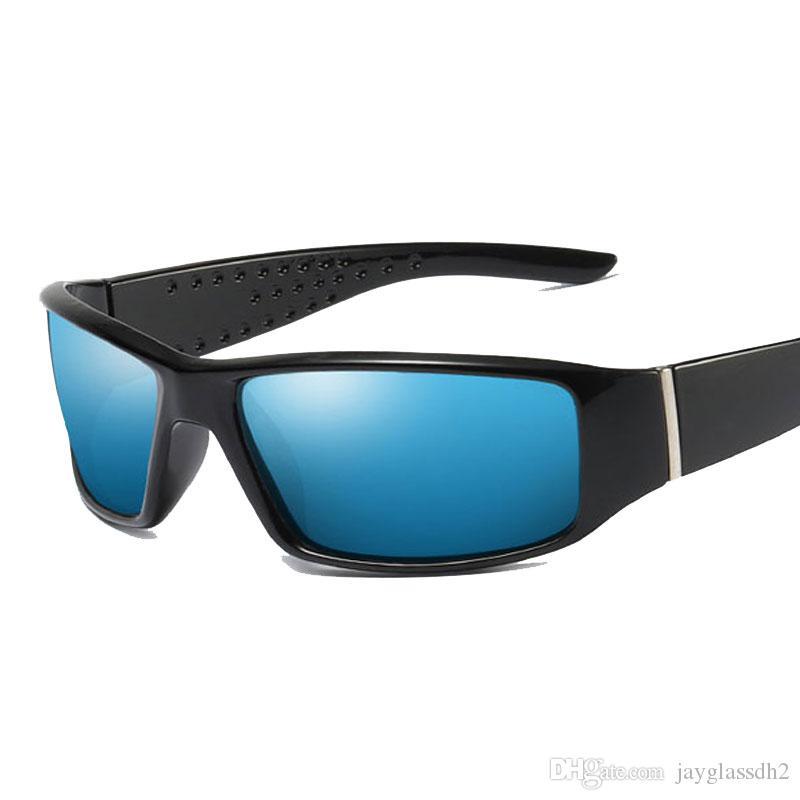 2019 Nouvelle marque hommes lunettes de soleil polarisées lunettes de protection pour hommes conduisant pêche lunettes de soleil noir cadre lunettes accessoires
