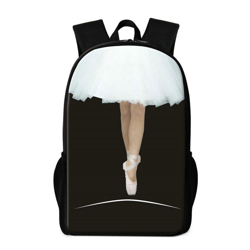 Ballet Girl Pattern School Backpack for Children Girls Rucksack Personalized School Bag Primary Students Bookbag Mochila Cute Bagpack Kids