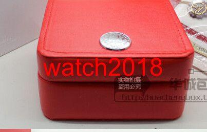Venta al por mayor ENVÍO GRATIS CAJA de RELOJ de Lujo Nueva caja Cuadrada Roja Para Relojes Etiquetas y Papeles de Tarjetas en Inglés