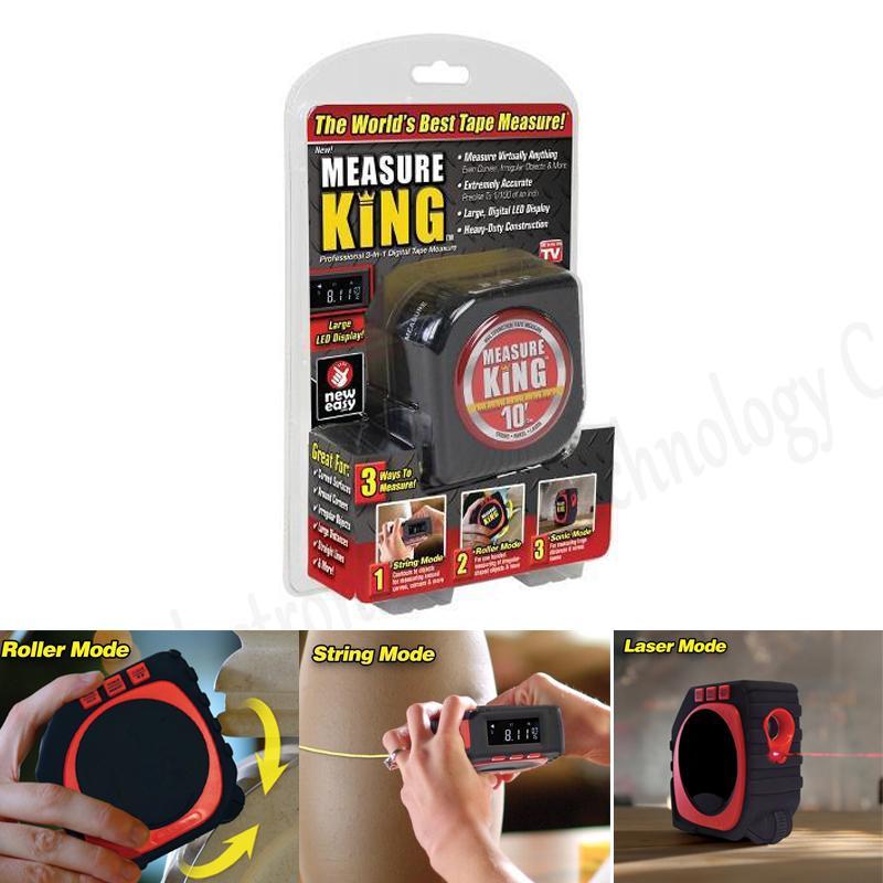 Tape Measure 3 in 1 Digital Measuring Tape String Sonic Roller Mode Laser Tool