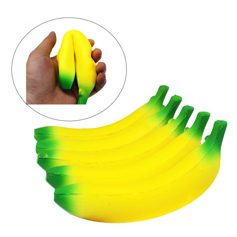 Il simpatico Banana Squishy lento aumento di natale decorazione sveglia Jumbo Simula Telefono Ciondolo cinghie Spremere sollecitazione di trazione Pane regalo dei capretti Giocattolo
