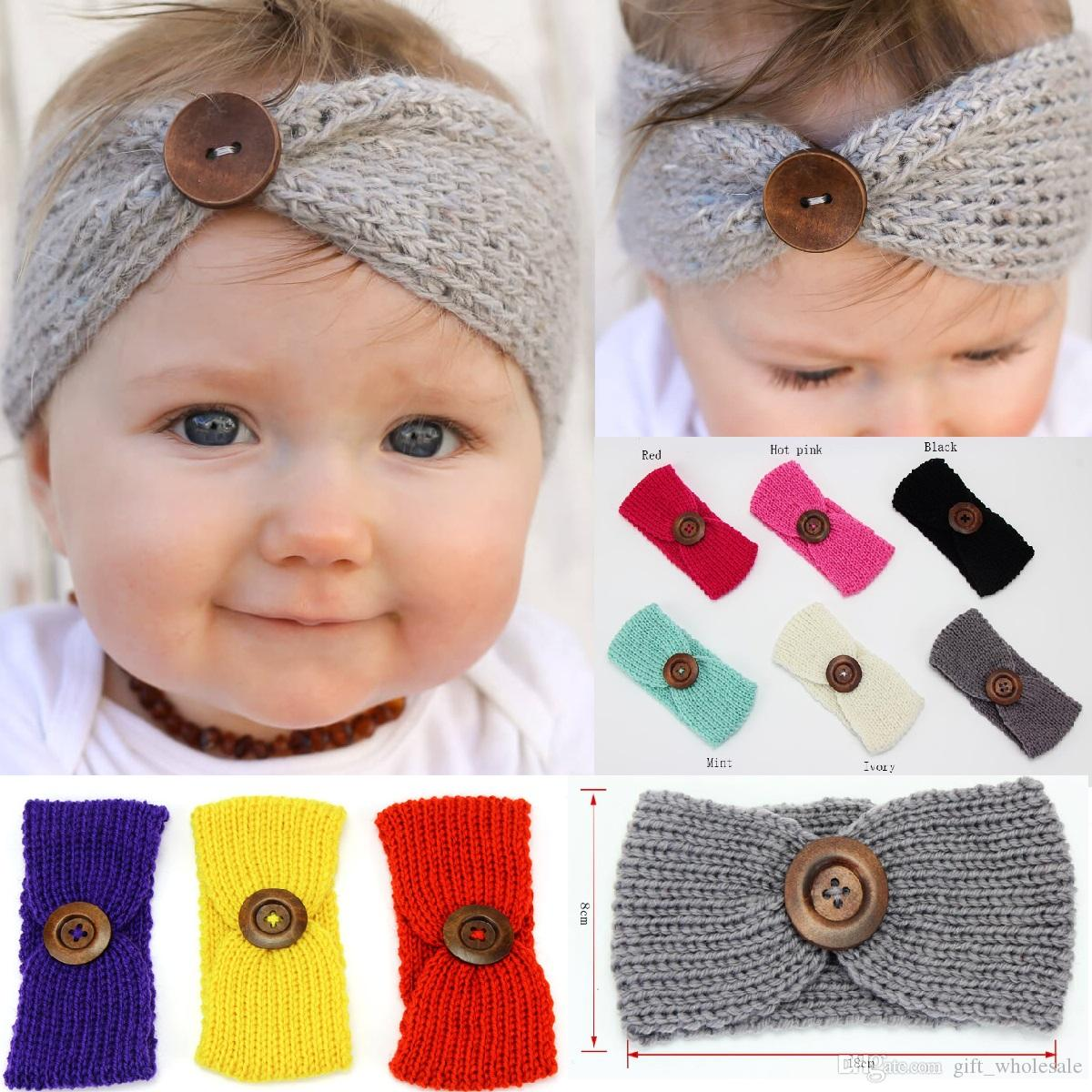 1x Infant Toddler Baby Girl Knitted Poms Head Band Hairband Winter Headwear Gift