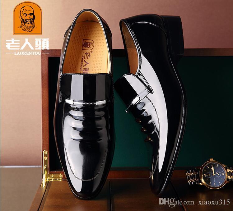 2018 Brand Designer in vera pelle Uomo Scarpe oxford, scarpe da uomo a punta scarpe da sposa Scarpe da sposa JP37