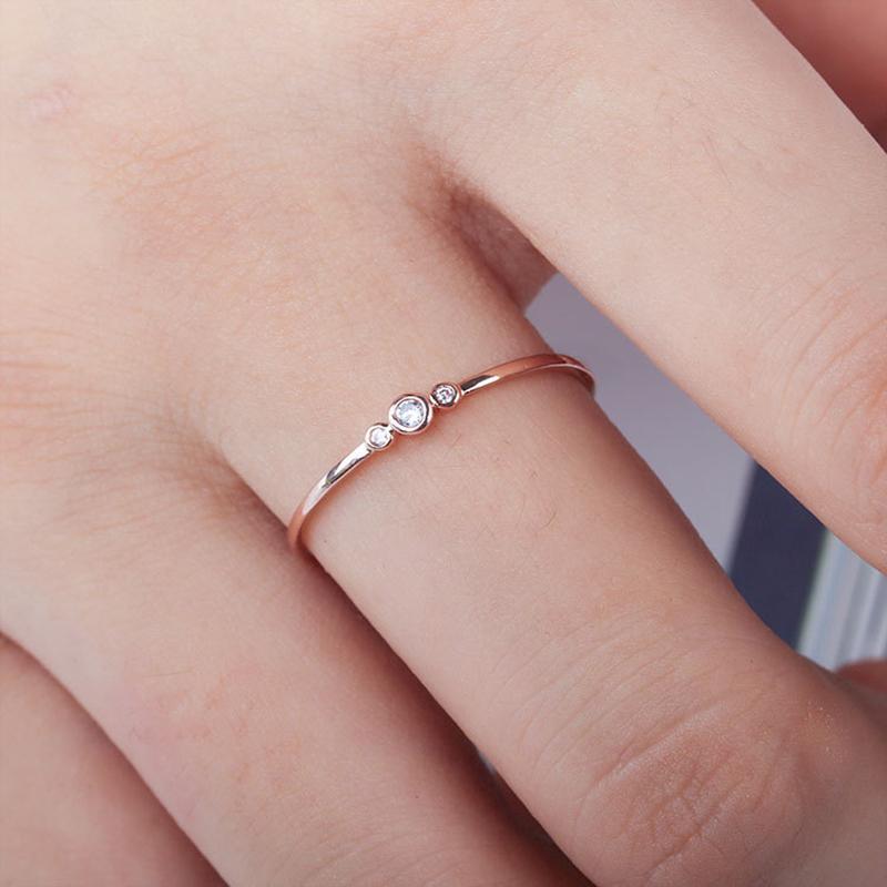 Elegante moda simple anillo de mujer joyería de dedo oro / astilla color rhinestone anillos de cristal 6/7/8/9/10 tamaño venta caliente