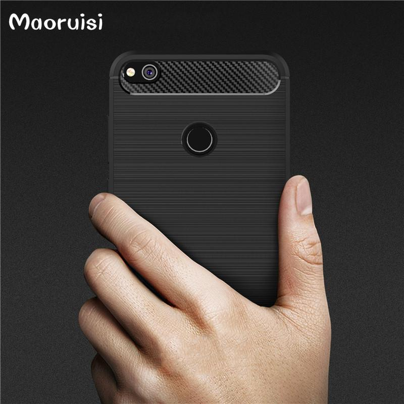 Carbon Fiber Cover For Huawei P8 Lite 2017 Case Armor For Huawei ...