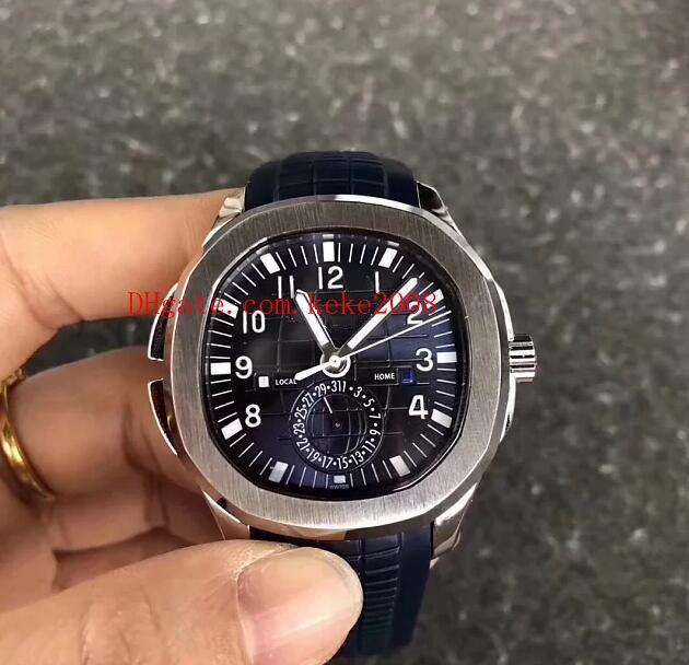 Beste Armbanduhr MP Factory Aquanaut 5167A-001 40.5mm Gummi Strap Swiss Cal.324cs Mechanische transparente Bewegung Automatische Herrenuhren