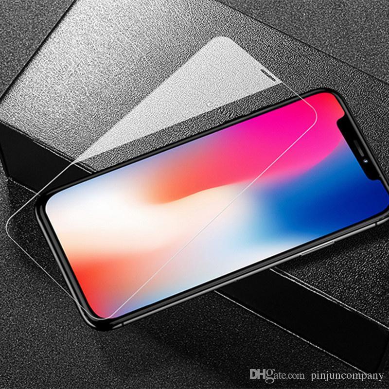 Für iphone 12 Fall für LG K51 STYLO 6 Ausgeglichenes Glas-Schirm-Schutz für Samsung A01 A21 A11 mit Kleinverpackung