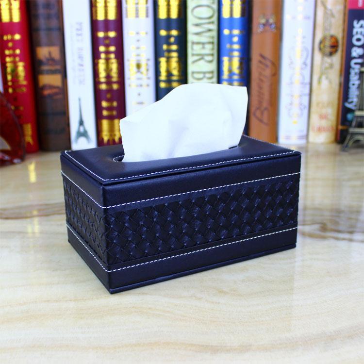 hot sale leather fancy tissue box PU cheap napkin box