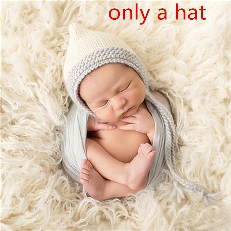 Neugeboren Baby Mädchen Stricken-Hut Kostüm Foto Fotografie Stütze Outfits