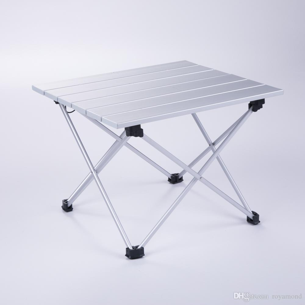 Superb Aluminum Folding Collapsible Camping Table Roll Up With Carrying Bag For Outdoor Picnic Bbq Beach Hiking Travel Small Size El011 Adirondack Chair Inzonedesignstudio Interior Chair Design Inzonedesignstudiocom