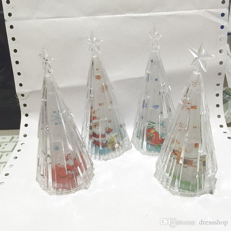 Transparenter Kristall Meteor Baum Bunte Nachtlichter Acryl Weihnachtsbaum mit Meteor Feeling Bild Traum