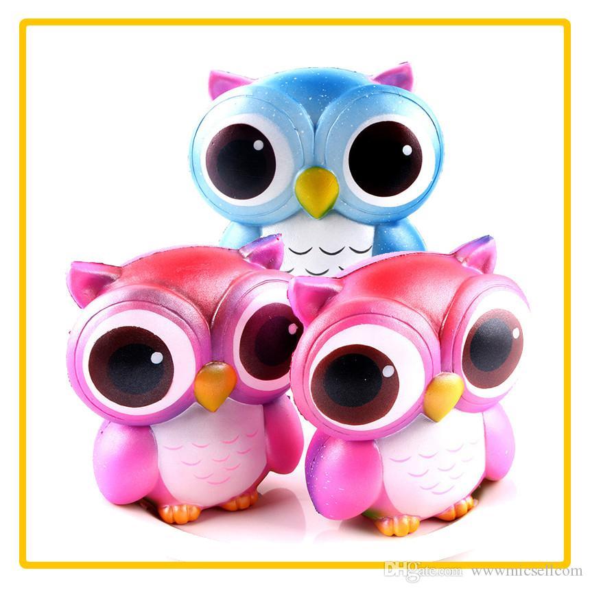 Squishy Slow Rising Jumbo Toy Bun Toys Animales Cute Kawaii Squeeze Cartoon Toy Mini Owl Squishy Moda Animal lindo