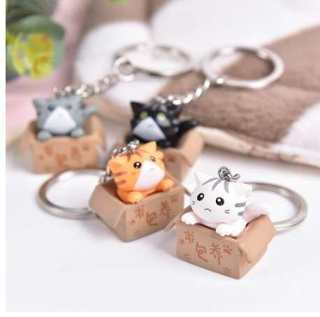 4colors mignon belle bande dessinée chat pendentif ornement pour sac cadeau sac pièces accessoires 1 PCS