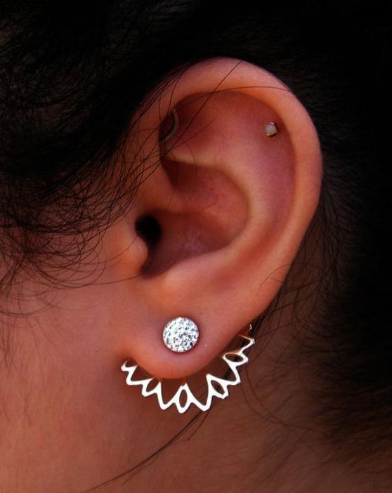 Orecchini in argento con fiore in lega di cristallo orecchini per orecchini da donna