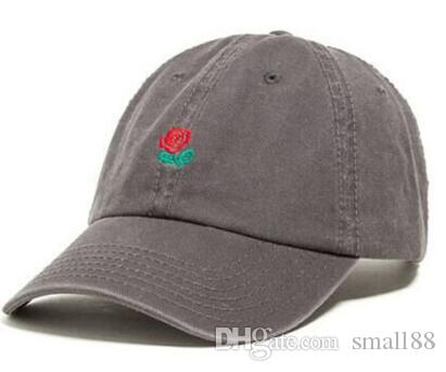 Nueva moda rara Rosa roja sombreros Cientos Tha Alumni Correa Volver Gorra hombres mujeres hueso snapback Panel ajustable Casquette golf deporte béisbol gorra