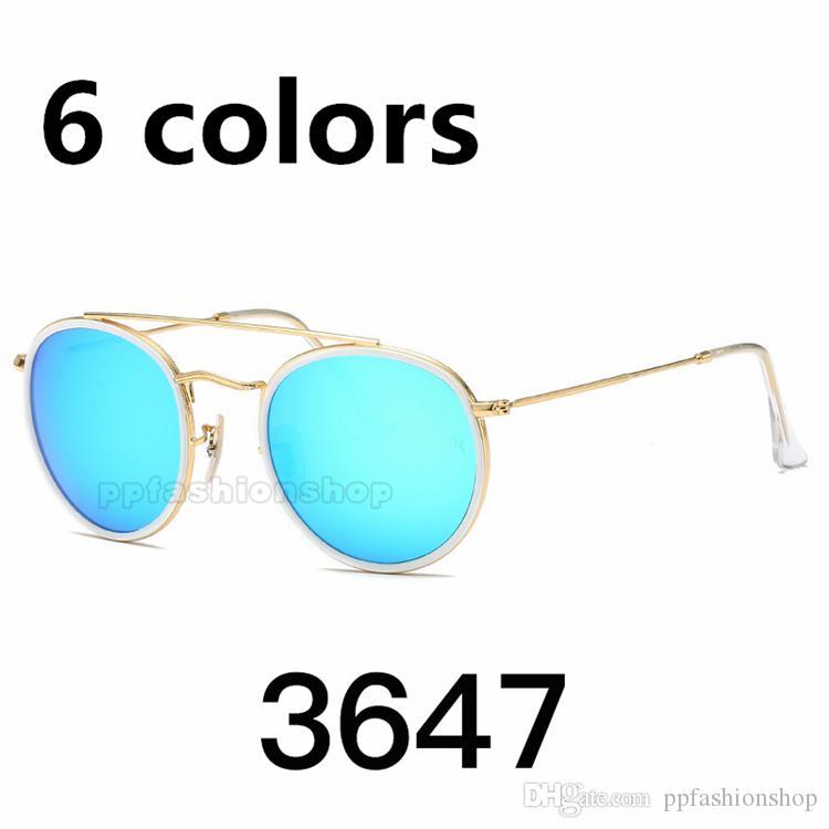 Designer de óculos de sol das mulheres dos homens de moda óculos de sol retro óculos redondos quadro de proteção UV óculos de lente reflexiva