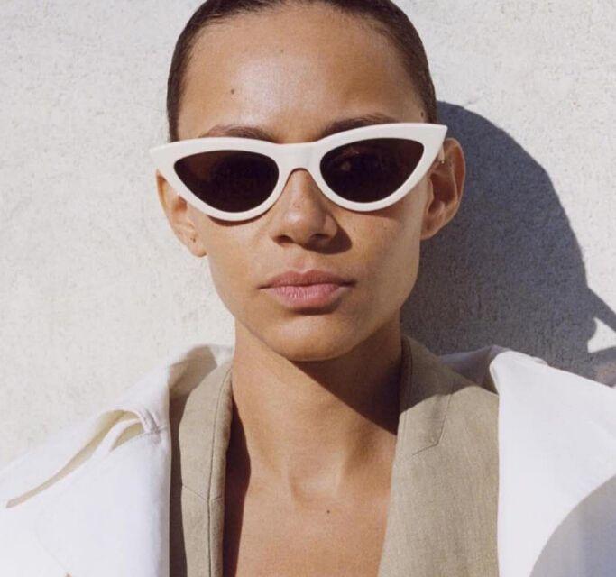 2018 النظارات الشمسية النساء خمر جديد 7 ألوان ه عين القط شكل الرجعية ليوبارد طباعة النظارات الشمسية إطارات