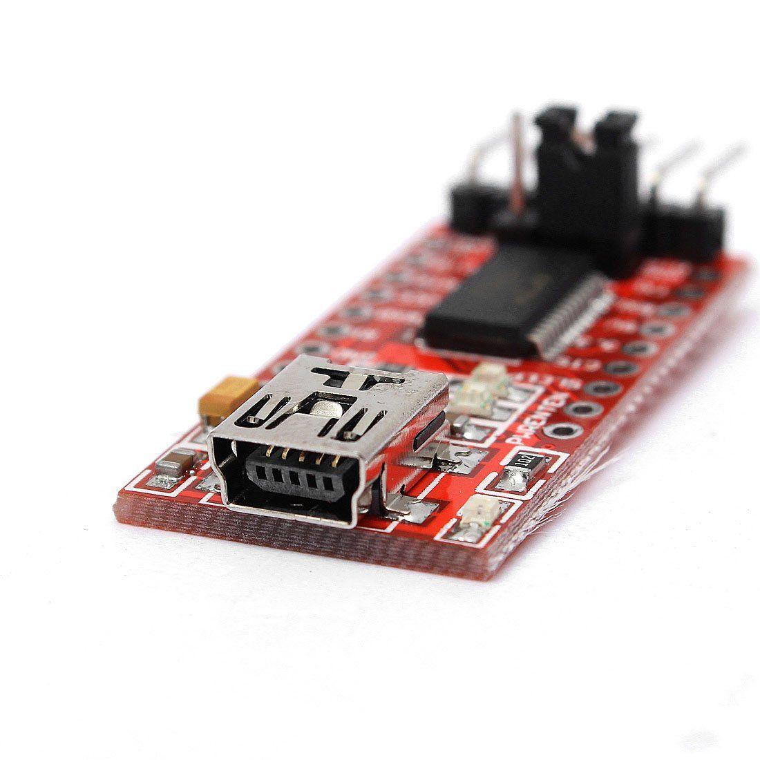 Freeshipping 10pcs Hot Sale FT232RL Module 5V 3.3V FTDI USB TTL conversion adapter Red