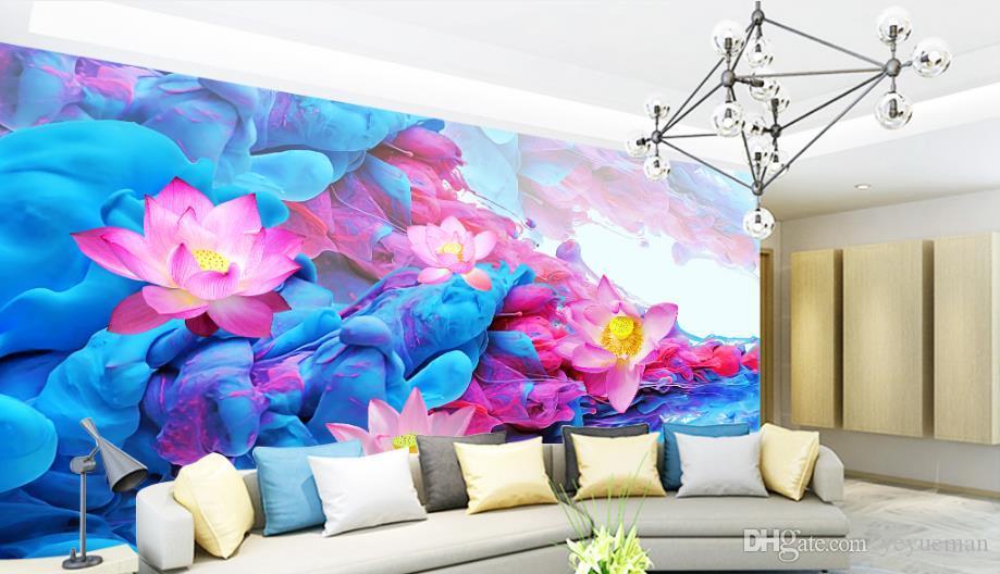 Печать фото обои цветок 3D настенные росписи обои для гостиной Спальня интерьер Декор девушки комната обои