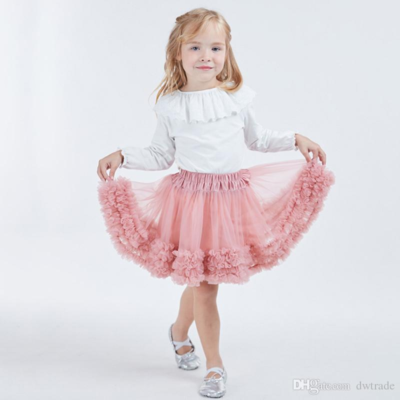 INS Hot Design TUTU Girl Dress Baby Skirt Lace Dress Skirts Mini Dance Wear Pettiskirt Ballet Dancing Lace Dresses Bubble Skirt