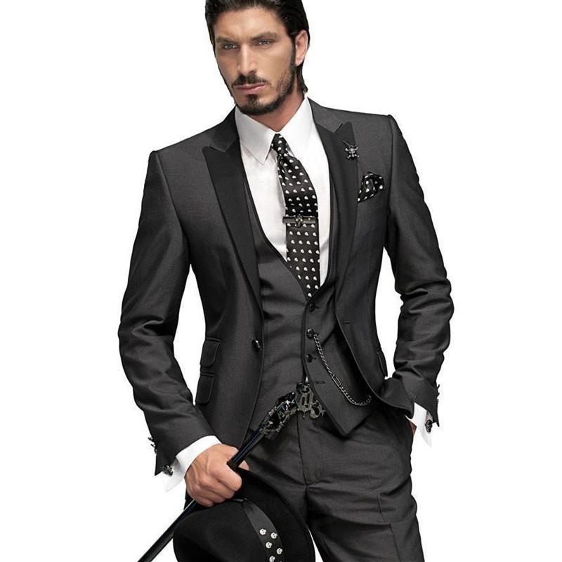 vente usa en ligne profiter du prix le plus bas choisissez le dégagement Acheter Nouveau Costume Masculin Costume Noir Marié Marié Chemise +  Pantalon + Cravate Gilet De $170.3 Du Cactuse   DHgate.Com