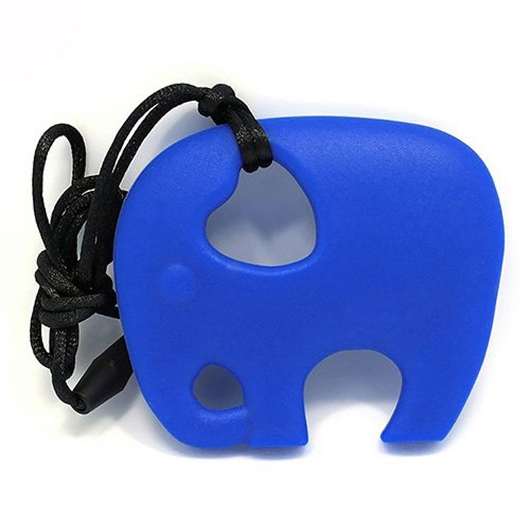 BPA gratis silicona dentición juguetes elefante de dibujos animados dentición Chew bebé colgante molar collar 100% silicona alimenticia niños juguete