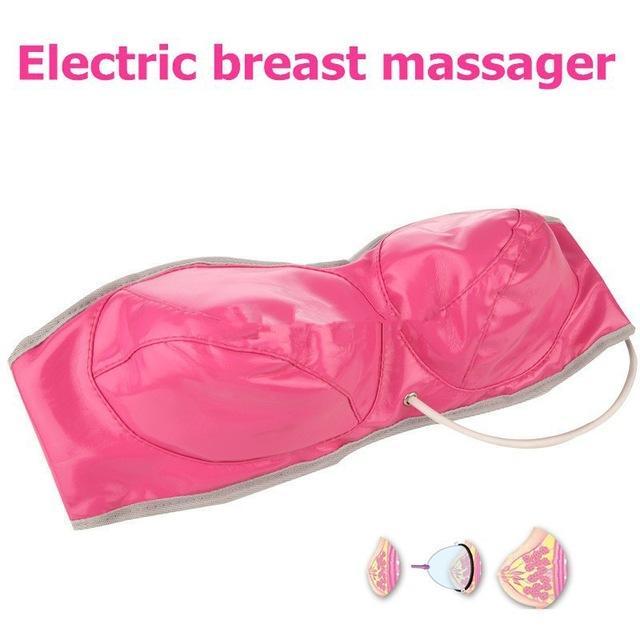2017 Nova Top qualidade Rosa / Roxo cor Infravermelho Elétrico estimulação do Estimulo da mama fisioterapia vibrando Massagem bra