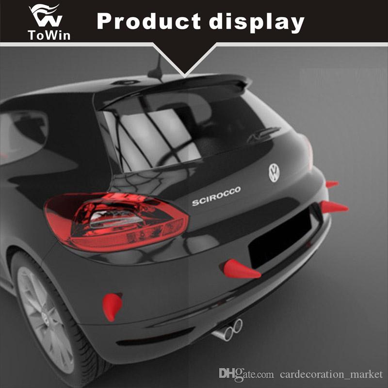 Promosyon Araba Çıkartmaları Araba Dış Dekorasyon 3d Şeytan Boynuzları Fidan Anti-collosion evrensel 7 renk / Sevimli / Yaratıcı / Güvenlik / Güzel / HI-Q