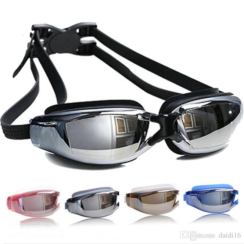 نظارات السباحة ومضادة للضرب المهنية السباحة الرجال النساء مكافحة الضباب فوق البنفسجية حماية نظارات السباحة للماء نظارات السباحة سيليكون