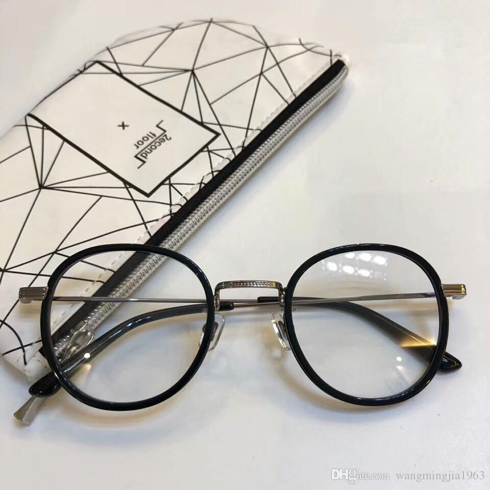 Nouveau cadre de lunettes clair cadre de lunettes reconstituant des moyens anciens oculos de grau hommes et femmes myopie lunettes montures GMYELL avec étui
