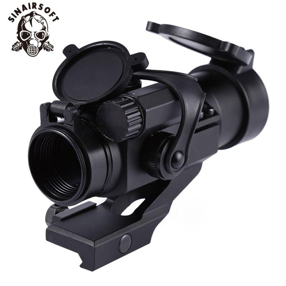 SINAIRSOFT Red Green Dot Attrazioni Caccia Shooting Game Riflescope 32mm M2 Avvistamento Telescopio Laser Sight con Reflex Scope per Picatinny Rail