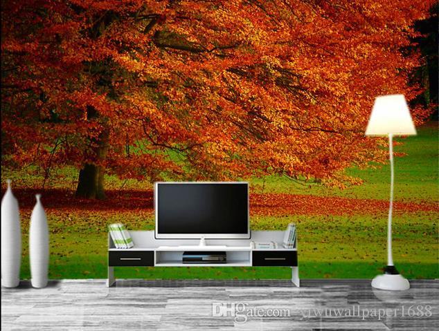Personnalisé toute la taille photo beau fond naturel mur moderne papier peint pour le salon