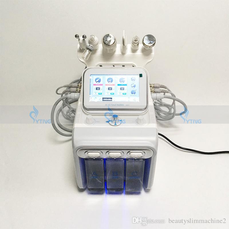 Yeni 6 in 1 RF Su Hidrakasiyal Oksijen Jet Peel Yüz Cilt Temizleme Soğuk Çekiç Bio Yüz Germe Dermabrazyon Cilt Scrubber Spa Makinesi