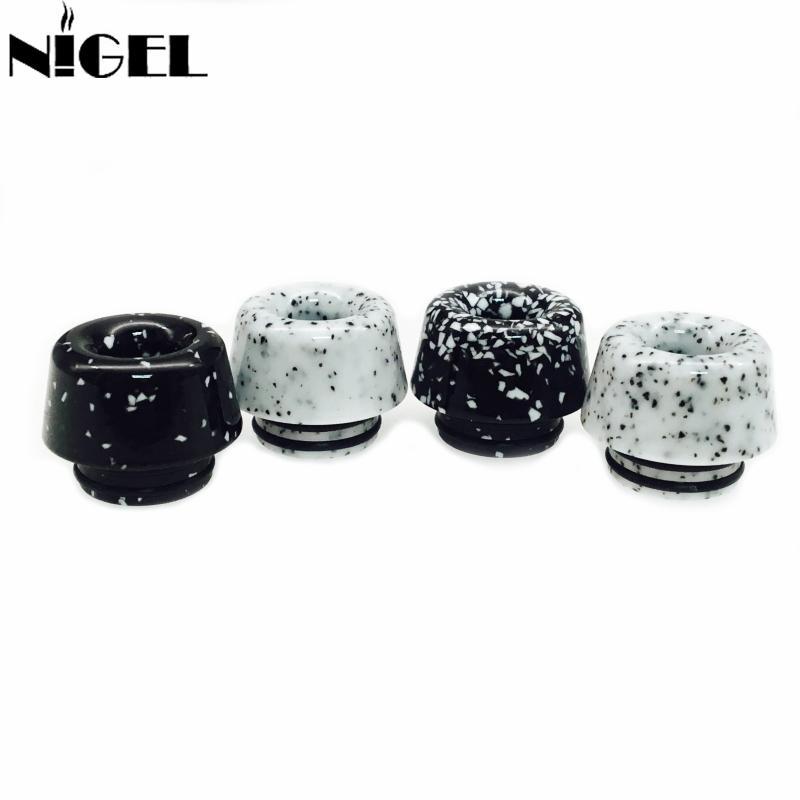 Mais novo 810 mármore preto branco cogumelos ponta de gotejamento para tfv8 tfv12 goon kennedy atomizador vaporizador tanque resina bocal hot