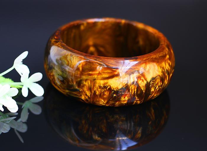 Genuine Golden Black Coral Sea Willow Bracelet Inner Diameter 60mm