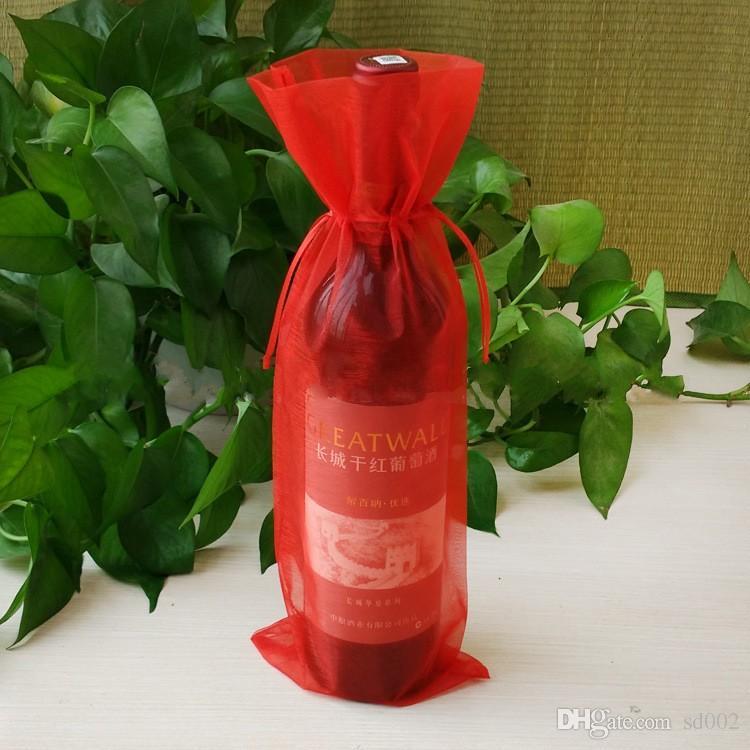 Borsa con coulisse in bottiglia di vino rosso Creativa con coperchio quadrato di iuta Facile da trasportare Confezioni regalo Borse di alta qualità 0 95jz B